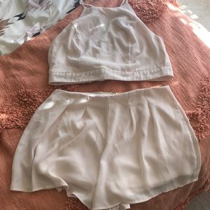 Cute Ivory two piece short set